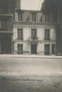Eesti saatkonna hoone Pariisis, 6 rue Magellan. Foto: Eesti Rahvusarhiiv