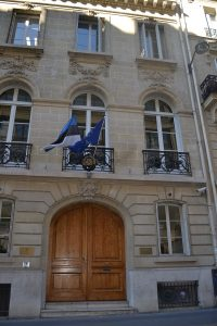 Eesti saatkonna hoone 17 rue de la Baume, 75008 Paris. Foto: EV Suursaatkond Pariisis