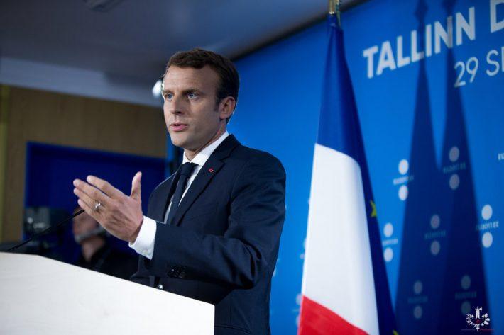 Prantsuse Presidendi E. Macroni pressikonverents digitippkohtumise järel Tallinnas 29.09.2017. Foto: Elysée, F.Lafite
